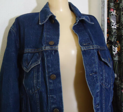 Vtg Levis Denim Jean Jacket 42R Wpl 423 USA Made 7