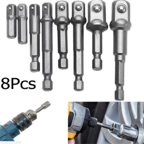 F 8X Socket Bit Adapter Kit Hex Impact Drill Driver Bar Wrench Extension Supply