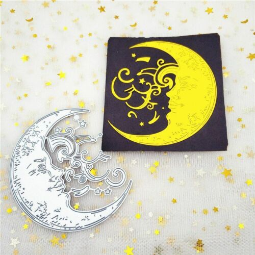 Saturn Moon Die Cut Metal For DIY Album Scrapbooking Embossing Paper Cards Decor