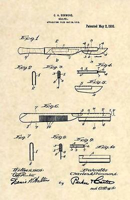 Official Phillips Screwdriver US Patent Art Print Carpenter Antique Tool 98