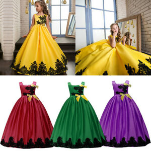 Girls-Kids-Flower-Long-Dress-Princess-Party-Wedding-Bridesmaid-Gown-for-6-14-Yrs
