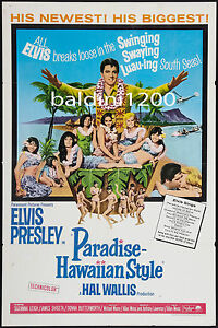 ELVIS-PRESLEY-PARADISE-HAWAIIAN-STYLE-QUALITY-VINTAGE-MOVIE-MUSIC-POSTER