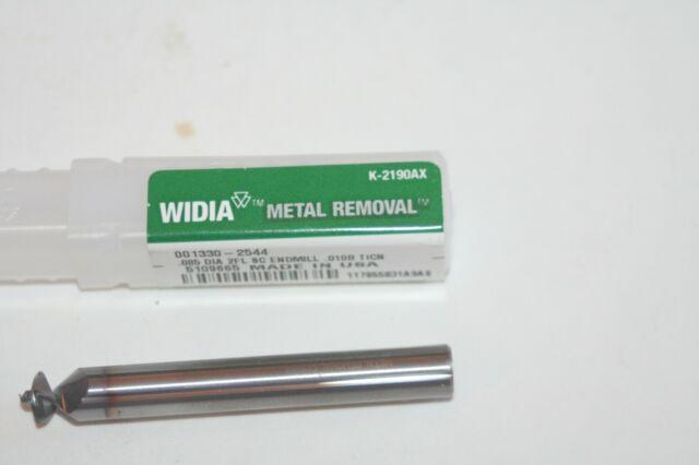 "WIDIA TC6218130051//2/"" Cobalt Corner Chamfer Roughing End Mill4-Flute TiCN"