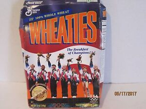 Vintage Wheaties 1996 Gold Medal Winner Women Gymnastics Team USA Cereal Box b20