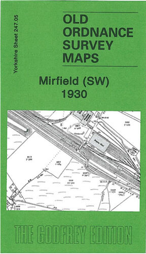 OLD ORDNANCE SURVEY MAP MIRFIELD SW 1930 FRANCES STREET HOPTON BROW HEATON HALL