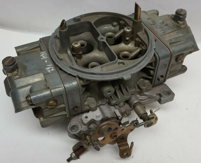 Holley 750 CFM double pumper carburetor list # 4779-6 4 corner idle short pieces