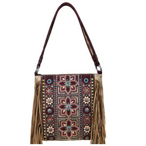 272c9e372 Image is loading Montana-West-Western-Bling-Fringed-Shoulder-Bag-Coffee-