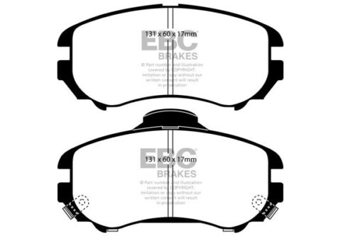 EBC Ultimax Front Brake Pads for Hyundai Coupe 2.0 2002 /> 09