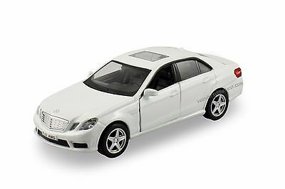 """RMZ city Mercedez Benz E63 AMG 1:36 scale 5"""" diecast model car White R05"""