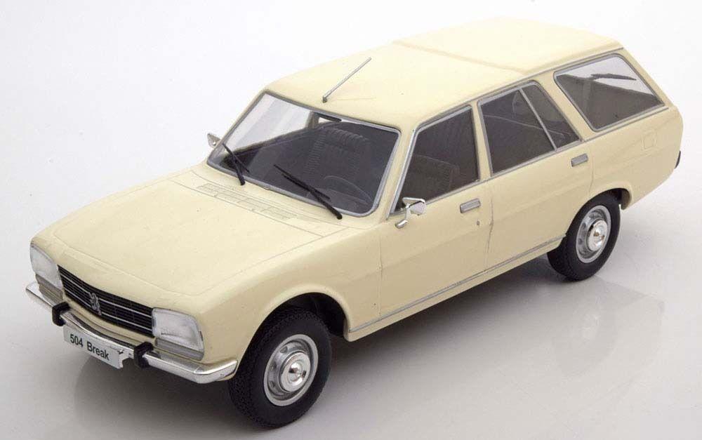 MCG 1976 Peugeot 504 Break White color in 1 18 Scale New Release