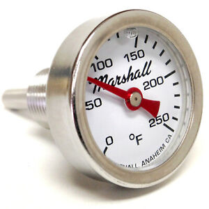 I-14-CW-Direct-Mount-Engine-Thermometer-0-250F-White-Dial-Liquid-Filled