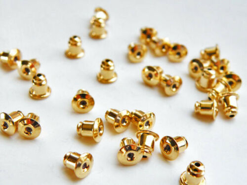 500pcs Rose God earring nuts stoppers backs bullet clutch for earring posts