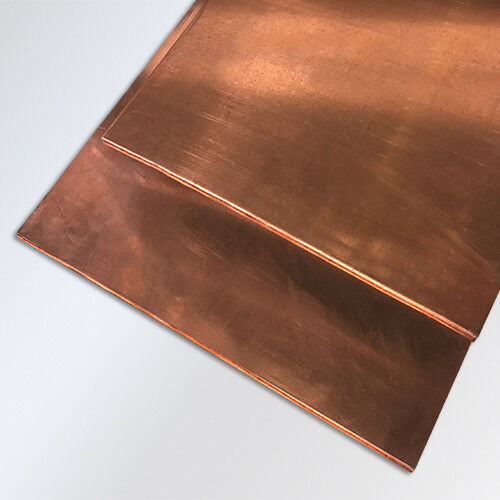 "2 pieces .04 1//25/"" 12/"" x 12/"" copper plate sheet random usable drop bus bar"