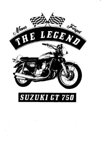 Motorcycle Suzuki Gt 750 Bike Youngtimer Oldtimer T-Shirt