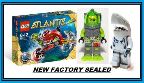 LEGO Atlantis 8057 blue key diver wreck raider sub car shark warrior minifig new