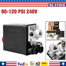 Air Compressor Pump Pressure Switch Control Valve Solid 90 120psi Max 240v 16a