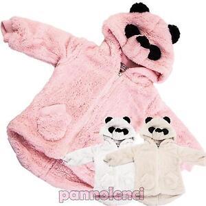 Sweat-shirt-bebe-fille-a-capuche-oreilles-fourrure-veste-PANDA-kawaii-GNA-513