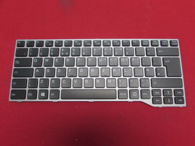 New Spanish Teclado for Fujitsu Lifebook E733 E734 E743 E744 keyboard grey frame