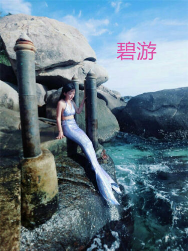 Newest High Quality Kids Adult Women Mermaid Tail Cosplay Costume Prop Swimsuit