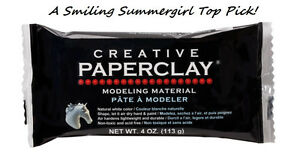 4 oz Creative PAPERCLAY Modeling Material White, Air Dry, NonToxic, Acid Free