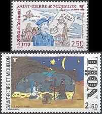 ST PIERRE ET MIQUELON N°570/571 - NEUF ** LUXE GOMME D'ORIGINE