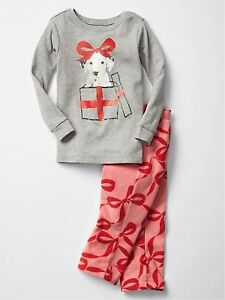 8265c3545993 GAP Baby Toddler Girls Size 5T / 5 Years Gray Red Puppy Christmas ...