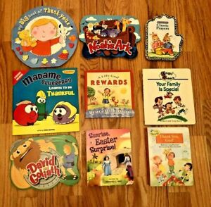 lot 9 Children's Christian Bible Stories Board Books (1-is ...