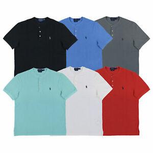 Polo-Ralph-Lauren-Mens-Featherweight-Mesh-Henley-T-Shirt-S-M-L-Xl-Xxl-New-Nwt