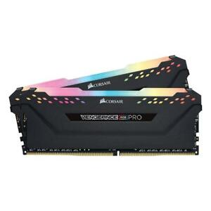 Corsair Vengeance RGB PRO 16GB 2x8GB 3200MHz C16 DDR4 Black Desktop Memory Kit