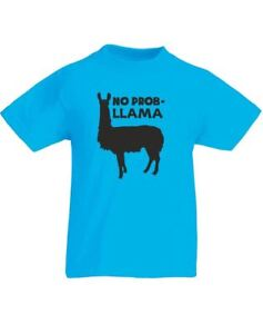 No-Prob-Llama-Design-Kids-Printed-T-Shirt-Tee-Top-for-Boys-Girls-Children