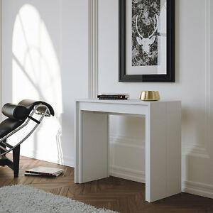 Tavolo consolle bianco opaco moderna arcobaleno l 90 14 - Tavolo 14 posti ...