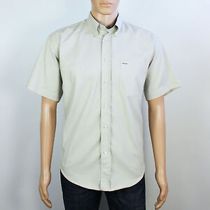 3d01748d3c69d1 Ted Taylor Mens Size M L XL Beige Cotton Short Sleeve Shirt