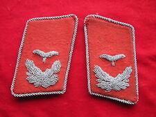 LW-Paar Kragenspiegel f.e.Leutnant der Flak  2.WK  Original!