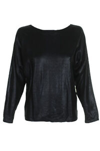 LAUREN RALPH LAUREN Women/'s Metallic Dolman-sleeve Boat Neck Sweater Top TEDO
