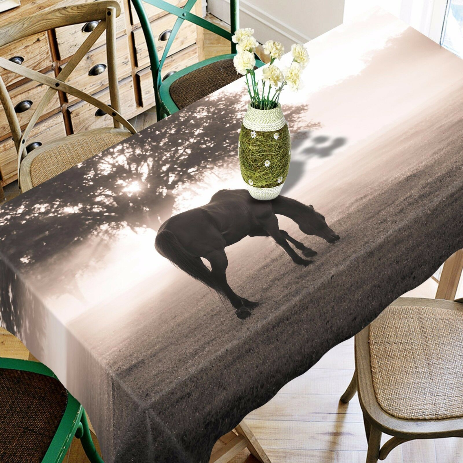 3D Lawn Horse 437 Tablecloth Table Cover Cloth Birthday Party Event AJ WALLPAPER