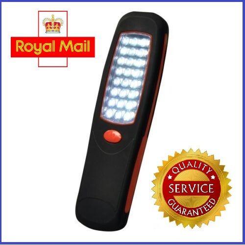 Cordless Magnetic 24 LED Inspection Lamp Torch Flashlight Light Camping Work UK