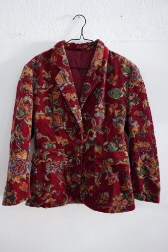 KENZO Red Jacket Blazer Corduroy Multicolor XS