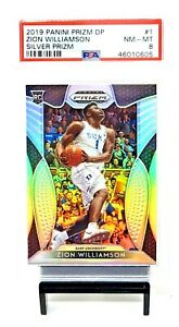2019-Prizm-SILVER-REFRACTOR-Pelicans-Star-ZION-WILLIAMSON-RC-Card-PSA-8-NM-MINT