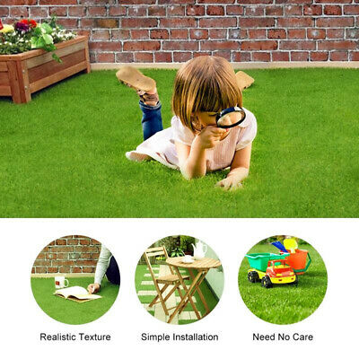 Astro Turf Garden >> Artificial Grass Astro Turf Fake Lawn Realistic Natural Green Garden Mat Ebay