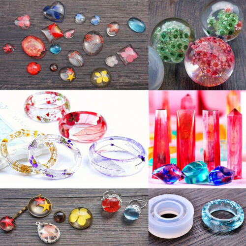 Crystal Glue Pendant Crafting Jewelry Making Kits Silicone Molds Casting Mould