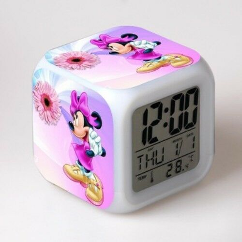Cartoon Mickey Minnie Maus Wecker Kinder LED-Digitaluhr Geschenk Nachtlicht