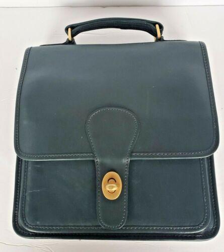 Vintage Hunter Green Coach Shoulder Bag