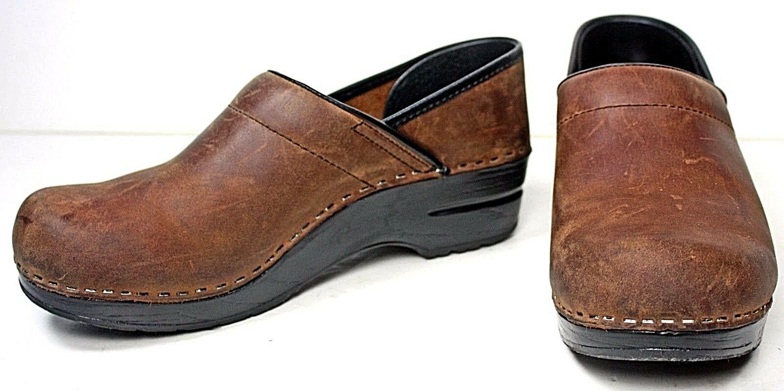 Dansko Womens Clog 8.5 - 9 M Brown Natural Leather shoes WH15