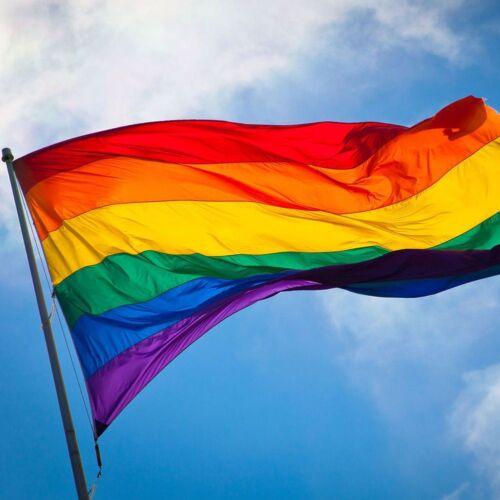 90x150cm Regenbogenfahne Flagge Flag Rainbow LGBT Lesben Homosexuell Pride NEU