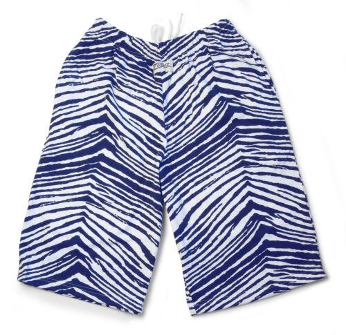 New Navy Blue//White Zubaz Zebra Shorts Zubaz Shorts