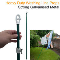 Clothes Line Prop Washing Pole Heavy Duty Adjustable Garden Laundry Clothing UK