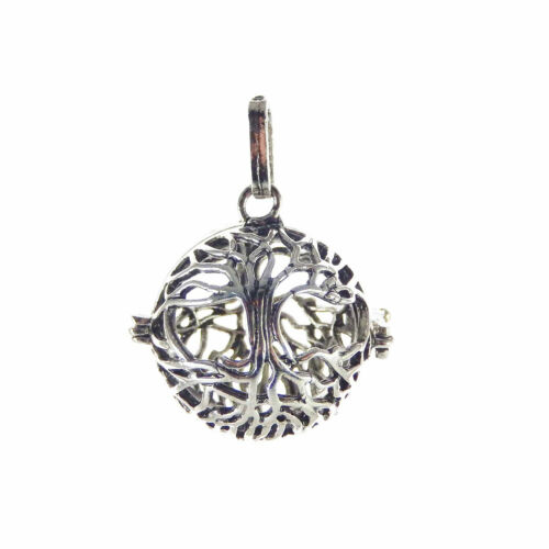 1pcs Vintage Silver Brass Life Tree Look Lockets Pendant Charms Jewelry Crafts