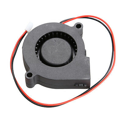 Micro Brushless DC Cooling Blower Fan 2 Wires 5015S 12V 0.06A 50x15mm Black O3T#