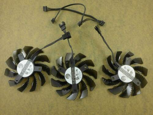 3pcs//set PLD08010S12HH Fan 0.35A 75mm For Gigabyte GTX960//970//980 Graphics Card