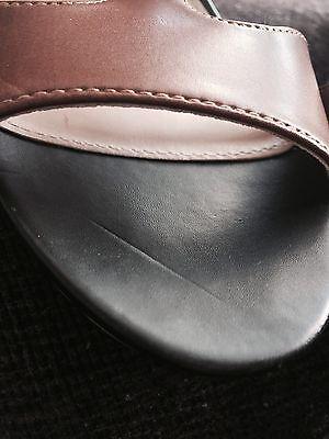 Carvela marrón y negro Cuñas Tacones Sandalias De Plataforma/Talla 6 39